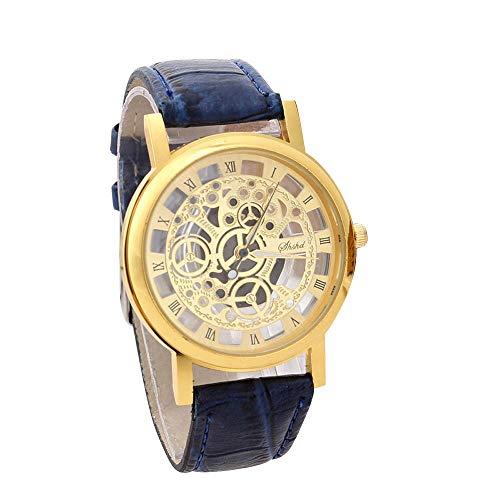 WoWer Herren Uhr Chronograph Analogue Quartz Wasserdicht Business Schwarz Zifferblatt Armbanduhr mit Edelstahl Armband