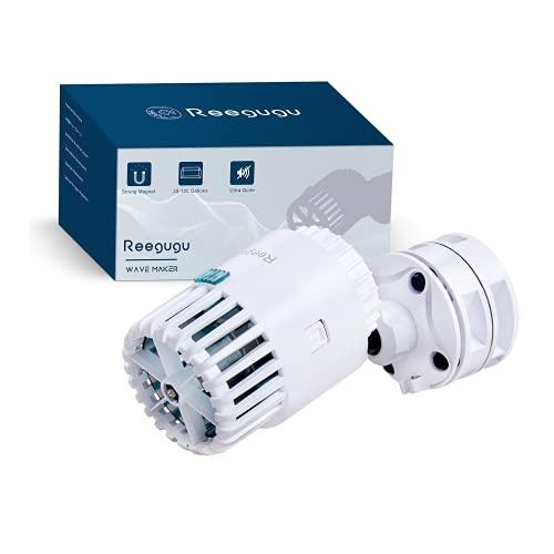 Acuario Wave Maker, Reegugu 120L / Minute Bomba de circulación magnética, Bomba de cabezal giratorio de 360°, Base magnética Wavemaker para 300L-450L de pecera