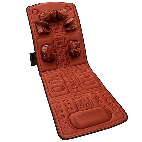 Colchoneta de masaje de cuerpo completo, Terapia multifuncional de cuerpo completo Shiatsu Vibrataion Cojín de colchón de masaje de calefacción eléctrica Masajeador de cuello trasero Cojín de masaje