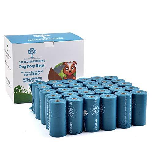 Brands biologisch abbaubare Hundekotbeutel, 450 Beutel (15 Beutel pro Rolle, 30 Rollen/Packung), Blau
