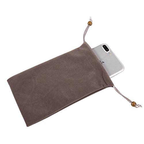 Universal Vertikal Schutz Sleeve Tasche für Apple iPhone X/78Plus/Samsung Galaxy S9+ s9S8+ s8/S8Active/on7Prime/J7Prime 2/A8A8+ A5A7J5J7/HTC Desire 12/U11+, Grau
