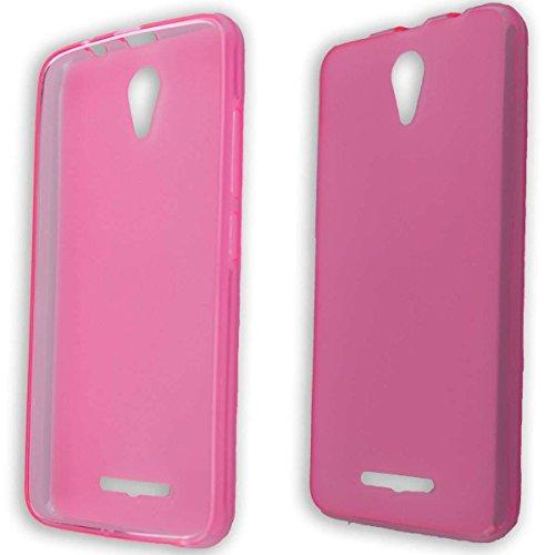 caseroxx TPU-Hülle für Archos 50f Neon, Handy Hülle Tasche (TPU-Hülle in pink)