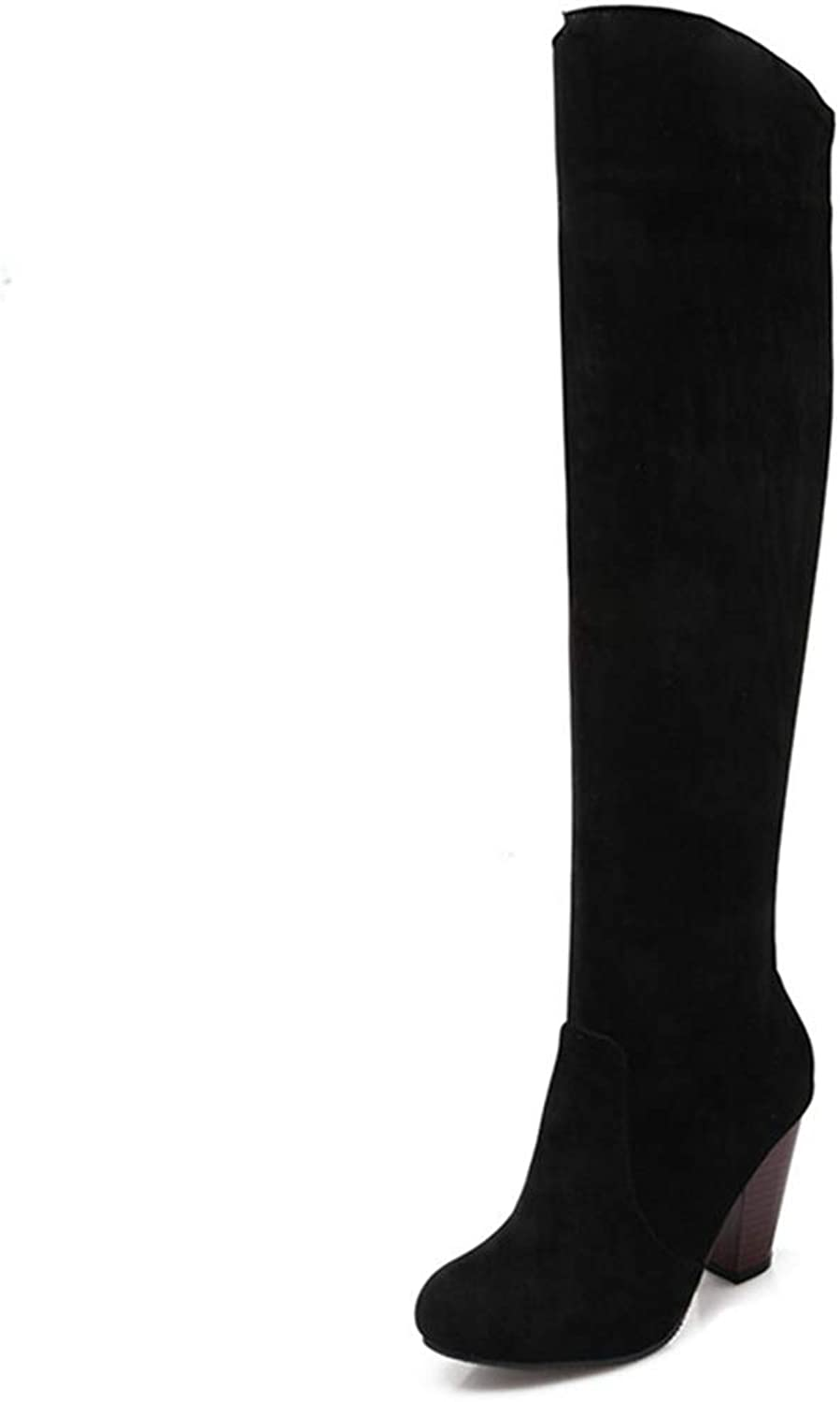 Solid color Over The Knee Boots Slip On Autumn Winter Ladies Thigh High Boots