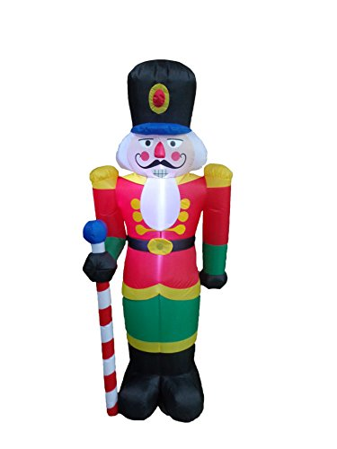 BZB Goods 6 Foot Tall Lighted Christmas Inflatable Nutcracker LED Lights Decor Outdoor Indoor Holiday Decorations, Blow up Lighted Yard Decor, Giant Lawn Inflatables Home Family Outside