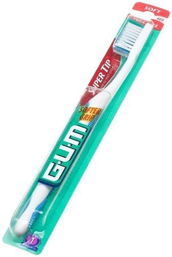 ストライプトランスミッション生産性海外直送肘 Gum Butler G-U-M Super Tip Full Head Toothbrush Soft, Soft 1 each