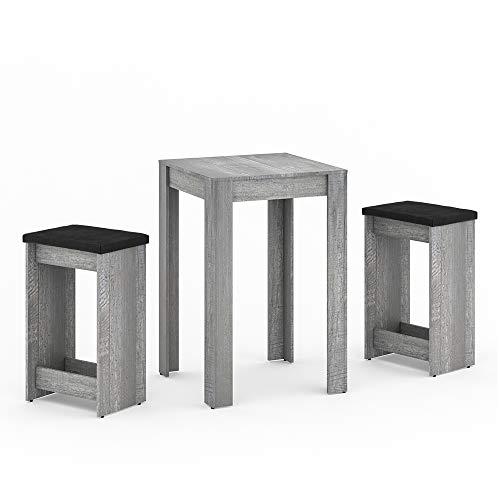 Vicco Tischgruppe Gero Sitzgruppe Essgruppe Esstisch Holz Tisch Weiß Beton Anthrazit (Beton)