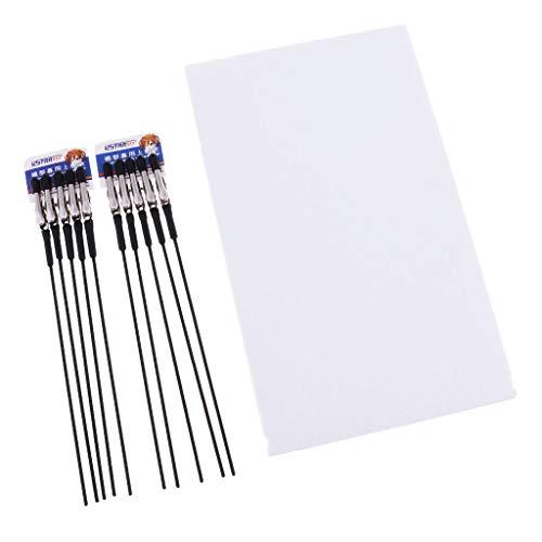 FLAMEER Palillos de Clip Pinza con Soporte Base para Modelo Pintura Colorear DIY Bricolaje