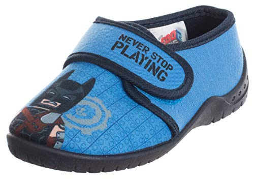 Brandsseller Batman Never Stop Playing - Zapatillas de casa para niños, color Azul, talla 29/30 EU