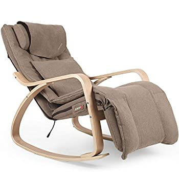 OWAYS Massage Chair Rocking Massage Chair and Recliner Shiatsu Hips Vibration and Rolling Massage for Body Relaxation Lounge Chair with Removable Cushion Cover Adjustable Footrest for Home