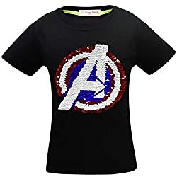 1syah Superhero Flash Flip Sequin T-Shirt