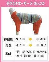 【Web限定】カバーオール2019 マルチボーダー×オレンジ 3号