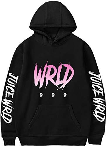 MINIDORA Juice WRLD Felpa con Cappuccio da Uomo Felpa Stampata Hip-Hop Rap con Cappuccio Streetwear Manica Lunga con Cappuccio M,1 Nero Rosa Nome
