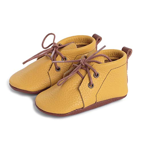 LittleBeMocs Yellow Boots Baby Moccasins (Italian Leather) Soft Sole Shoes for Boys and Girls | Infants, Babies, Toddlers (4)