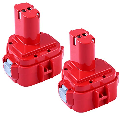 Upgraded 3600mA Ni-Mh 1200 Replacement for Makita 12V Battery Compatible with Makita 12 Volt Battery 1220 1201 1222 1233 1234 1235 192681-5 Cordless Power Tools 2Pack