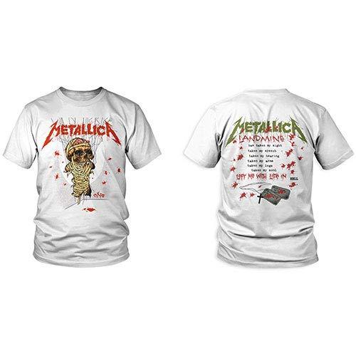 Metallica One Landmine_Men_Wht_TS: L Camiseta, Negro (Black Black), Large para Hombre