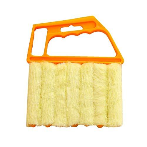 7ブラシベネチアンブラインドクリーナー、ウィンドウクリーナーブラシ、取り外し可能な洗える集塵機マイクロファイバー、ウィンドウシャッターエアコン用クリーニングクロスツール