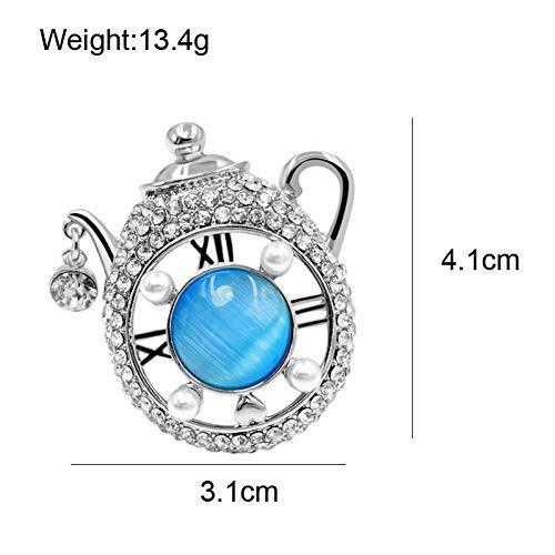 ERDING Brooch/Accessoires/Strass Theepot Broches voor Vrouwen Creatieve Stijl Opaal Broche Pin Mode Zomer T-shirt Sieraden