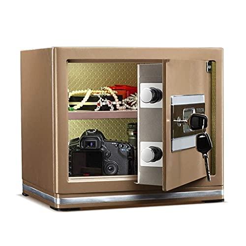 Safes Cash Jewellery Gun Mini Nachttisch Elektronische Spardosen Für Erwachsene Für Zuhause (Farbe: Gold, Größe: 38 * 31 * 33cm)