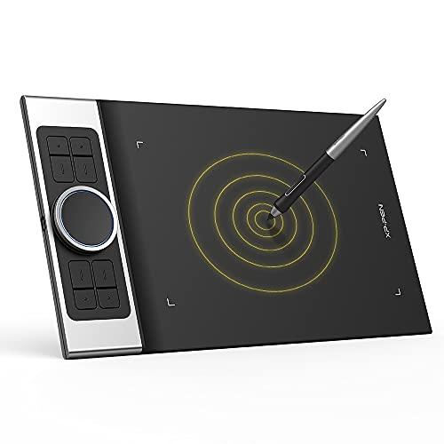 XP-PEN Deco Pro SW Tableta Gráfica Inalámbrica con Bluetooth, Tableta Digitalizadora de Dibujo de 7 mm de Grosor, Compatible con iPhone, Android, Windows y Mac para telerabajo y Educación en Línea