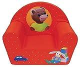 Fun House Petit Ours Brun Fauteuil CLUB en Mousse pour Enfant, Polyester, Rouge, 52x33x42 cm