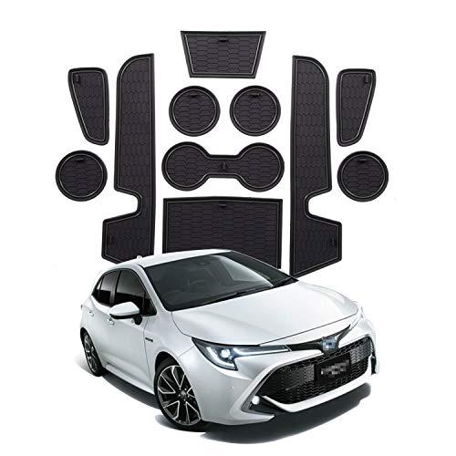 YEE PIN Alfombrillas Antideslizantes Corolla E210 2019 Accesorios, Alfombras de Goma para Consola Central Portavasos Coche Interior