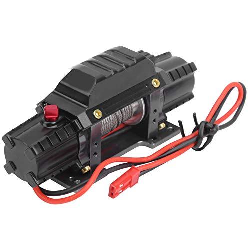 Dilwe RC Simulierte Winde, RC Doppelmotor Metallwinde mit Schalter 3. Kanal Kompatibel mit Hsp/Redcat/Axial scx10 D90/Hpi 1/8