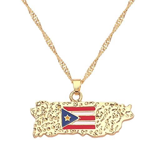 Collar de bandera de mapa de país África Guinea Ghana Liberia submarino Jamaica Sudáfrica India Brasil colgante cadena hombre joyería
