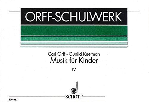 Musik für Kinder: Moll: Bordun-Stufen. Vol. 4. Singstimme, Blockflöte und Schlagzeug. Sing- und Spielpartitur. (Orff-Schulwerk)