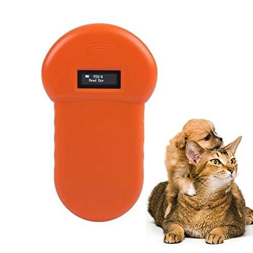 KKmoon Animal ID Reader Lettore Microchip Cani Lettore Microchip Animali, Lettore di Identificazione Animale 134.2KHz Lettore RFID con Display LCD, ISO 11784 85 Lettore di Tessere per Gatti,Cani