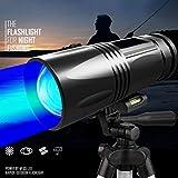 Sarplle Mini Fischen Taschenlampe LED Handlampe IP65 wasserdichte Lichter dual lichtquelle Zoom Lampe für Geschenk, Angeln, Wandern, Camping