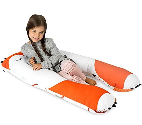 KomfortKissen Gesundheit Kinder Kissen für Bett Schlafen | Anti-Stress | ADHS Kissen Kinder (Fuchs)