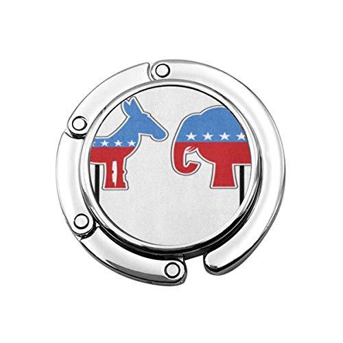 Borsa appendiabiti Elefante Asino Simboli di democratici repubblicani Partiti politici nel gancio della borsa elettorale degli Stati Uniti