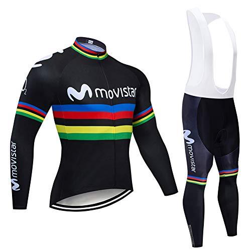 Hplights Ropa Ciclismo Otoño/Invierno/Primavera para Hombre Y Mujer - Ciclismo Maillot MTB...
