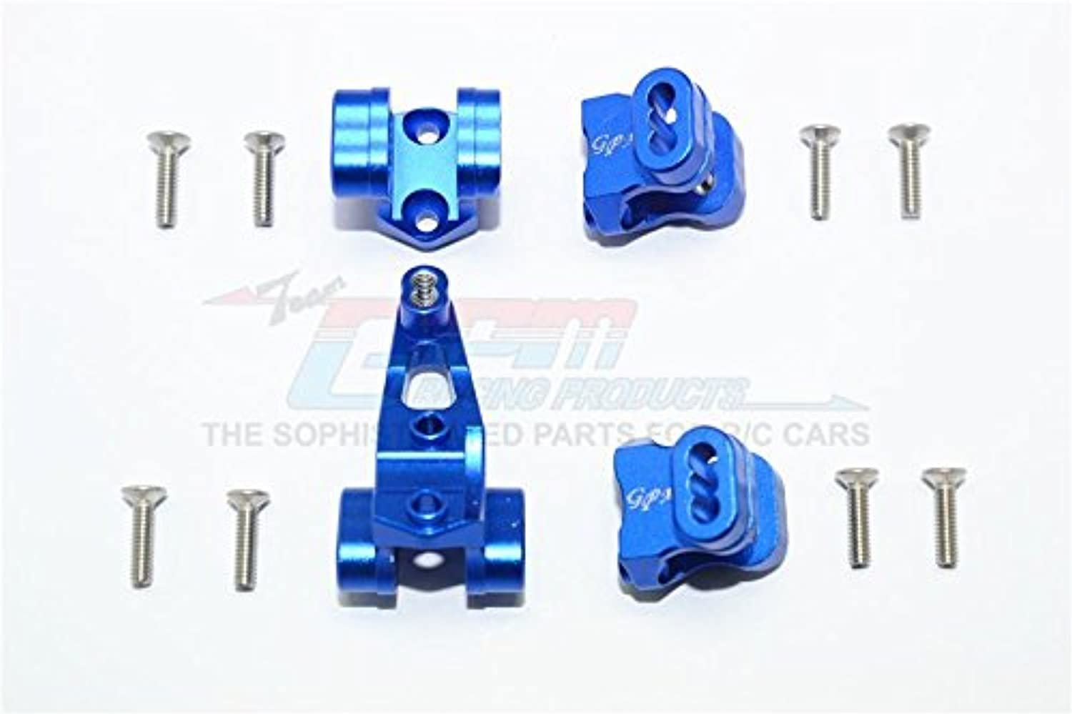 Traxxas TRX-4 Trail Defender Crawler Upgrade Parts Aluminum Front Rear Axle Mount Set For Suspension Links - 4Pc Set bluee