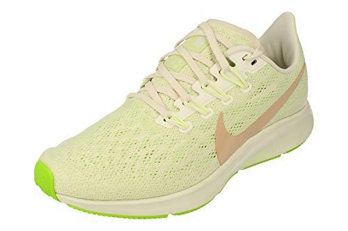 Nike Air Pegasus 36 Womens Running Trainers AQ2210 Sneakers Shoes (UK 5 US 7.5 EU 38.5, Phantom Biege Barely Volt 002)