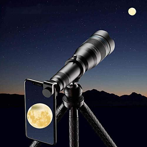 Buy Discount Mobile Phone Monocular Telescope Lens Astronomical Zoom Lens 60X extendable Tripod for ...