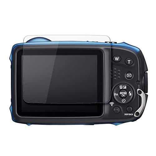 disGuard® Protector de Pantalla [Crystal Clear] compatibile con Fujifilm Finepix XP140 [2 Piezas] Cristal, Transparente, Invisible, Anti-Arañazos, Anti-Huella Dactilar - Película Protectora