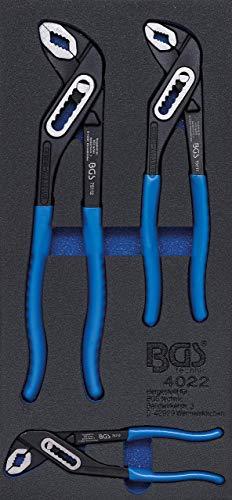 BGS 4022 | Insert de servante d'atelier 1/3 : Clé à pompe à eau | 3 pièces