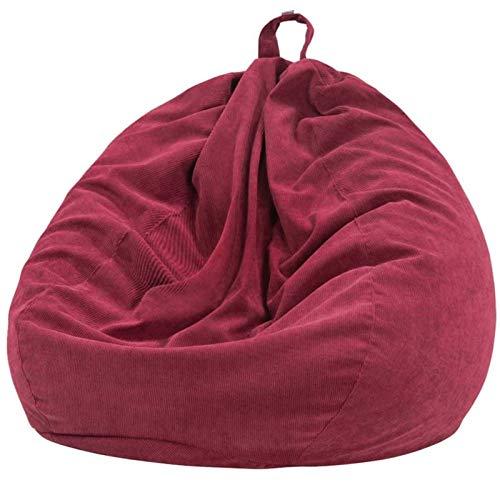 7Color Bolsa Silla Silla Lazy Sofas Cubierta Cubierta Cubierta con Forro Interior Cálido Cortado Cuarto Sillón Bolso Bolso Puf Puff Sofaque Tatami Sala de Estar (Color : Red 100x120cm)