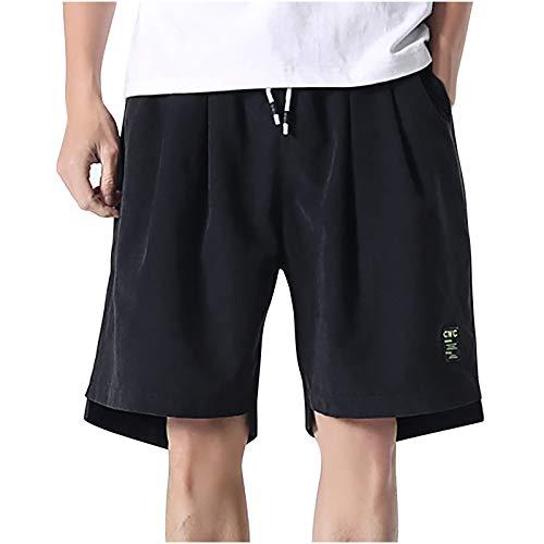 2021 Nuevo Pantalones Hombre Verano Casual Moda Pantalones tallas grandes Deportivos Color sólido Suelto Jogging Pantalon Fitness Gym Cortos Pantalones playa Bañador bolsillo Chándal de hombres