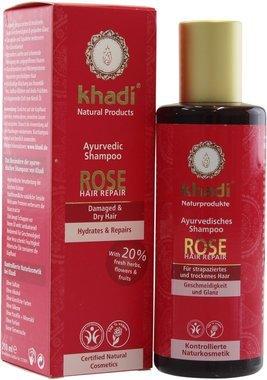 """KHADI""""Rose Hair Repair""""-Shampoo,für gesunde und hydratisierte Haare und Kopfhaut, macht das Haar glänzend und leuchtend, gleicht die Talgproduktion der Kopfhaut aus"""