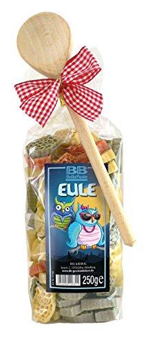 Pasta Präsent Eule mit bunten Eulennudeln handgefertigt in deutscher Manufaktur
