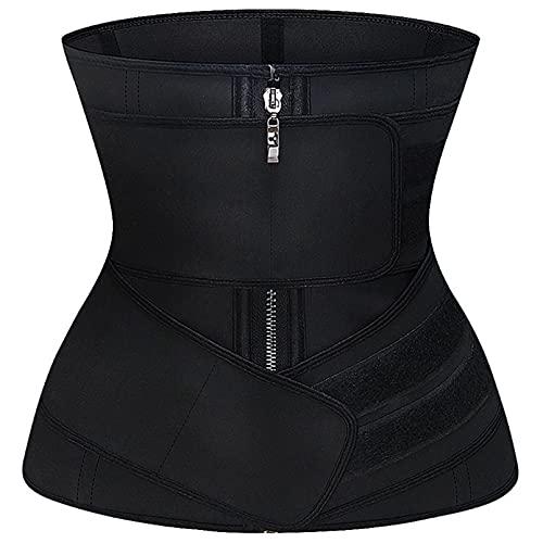 FGFDHJ Entrenador de Cintura de látex, Fajas para Adelgazar, Fajas para la Cintura, Fajas para el Sudor, Moldeador Deportivo, Correas para el Control del Vientre, Moldeador de Postura