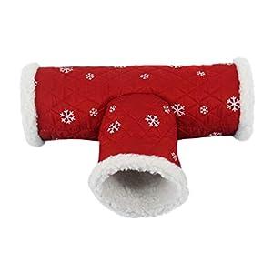 PowerBH Hamster Tunnel Chaud T Forme Petit Animal Animal Tube Cachette Lit Mélodie Canal pour Rat Gerbille/Cochon d'Inde/Chinchilla/écureuil Petit Animal Jeu Jouet