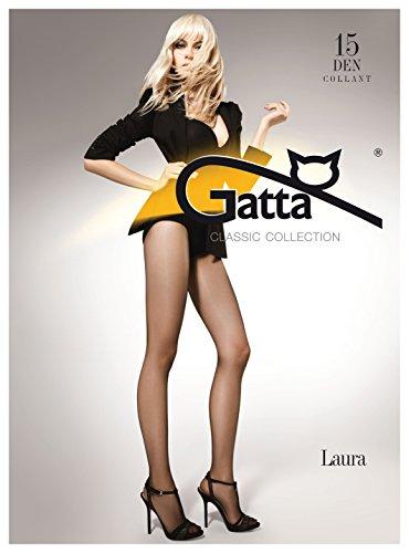 Gatta Laura 15den - klassisch elegant transparente Feinstrumpfhose - halbmatt mit verstärktem Miederteil - Größe 4-L - Natural