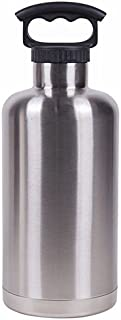 64OZ MATTE BLACK VACUUM-INSULATED TANK GROWLER