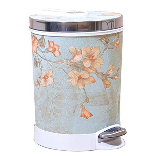 XYZMDJ Estilo Retro pequeño Bote de Basura Papelera, la Basura Decorativa Puede desperdiciar Papel Usado for el baño, Dormitorio, Oficina y más (Color : A)