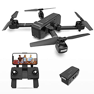 DEERC DE25 Drone with Camera 1080P HD Camera Drone FPV Live Video and GPS Auto Return Compact RC Quadcopter for Beginners and Professionals, Long Flight 18 Minutes