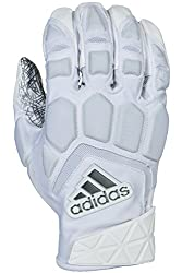 powerful Adidas Freak Max Padded Lineman Gloves White / White Size 3X-Large