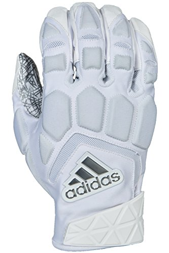 adidas Freak Max Padded Lineman Gloves, White/White, 3X-Large
